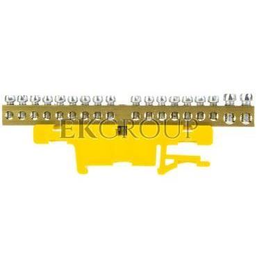 Listwa zaciskowa na szynę 18-torowa żółta TH35 LZ-18/N 0922-01-197083