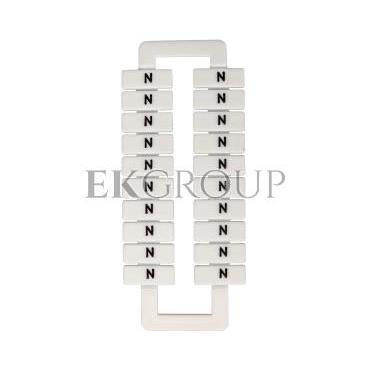 Oznacznik do złączek szynowych 2,5-70mm2 /N/ biały 43192 (20szt.)-192189