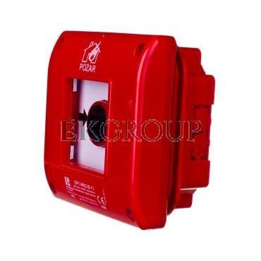 Przycisk ppoż. podtynkowy 1Z 1R czerwony OP1-W02-B\11-199623