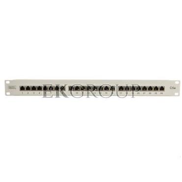 Patch panel kompletny 19 cali 24x RJ45 S/FTP kat. 5e 1U szary (RAL 7035) DN-91524S-191019
