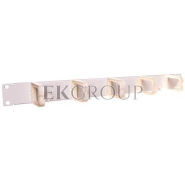 Organizator kablowy poziomy/pionowy haczyki plastikowe szara 19-0038S-190977