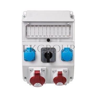 Rozdzielnica 1x32A 5P/ 1x16A 5P 2x250V okienko wyłącznik L-0-P IP54 ROS 11/X-21.2/L-0-P-197312