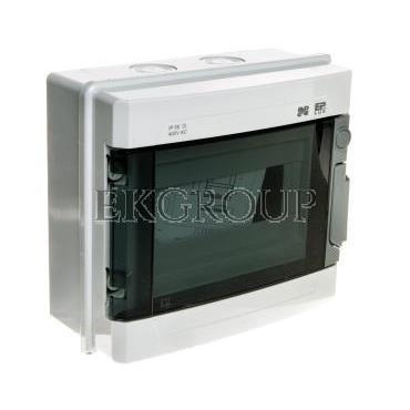 Rozdzielnica modułowa hermetyczna 1x9 EP-LUX PLUS RN 1/9 drzwi transparentne (N PE) IP55 szara 1961-01-198539