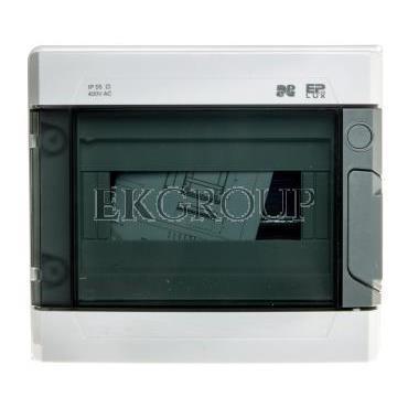 Rozdzielnica modułowa hermetyczna 1x9 EP-LUX PLUS RN 1/9 drzwi transparentne (N PE) IP55 szara 1961-01-198540