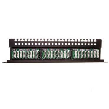 Patch panel kompletny 19 cali 24x RJ45 U/UTP kat. 5e czarny (RAL 9005) z tacką DN-91524U-EC-191032