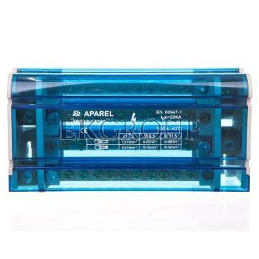 Blok rozdzielczy 4-torowy 1x11,5mm2 3x8,5mm2 8x7mm2 160A EBR2 4-12/160 R33RA-02020300501-196008