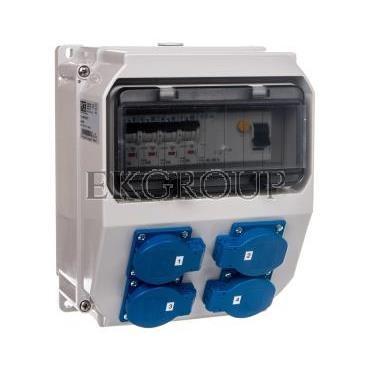 Rozdzielnica stacjonarna LUBLIN 9modułów z zabezpieczeniami 4xGS 16A 250V FI40 IP44 9018012-197393