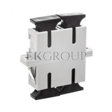 Adapter światłowodowy SC/SC duplex MM OM2 /ceramiczna ferrula/ kremowy DN-96004-1-191102