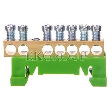 Zacisk przyłączeniowy na TS35, ochronny PE, 7-polowy, 7x16mm2 870S/7 zielony 89811005-199859