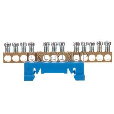 Zacisk przyłączeniowy na TS35, neutralny N, 12-polowy, 12x16mm2 870N/12 niebieski 89812003-199860