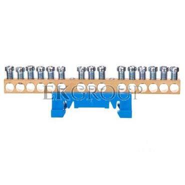 Zacisk przyłączeniowy na TS35, neutralny N, 15-polowy, 15x16mm2 870N/15 niebieski 89814003-199862