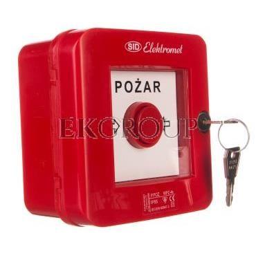 Ręczny ostrzegacz pożarowy z zamkiem 2Z 2R 12A IP55 WPZ-4s 921462-199660