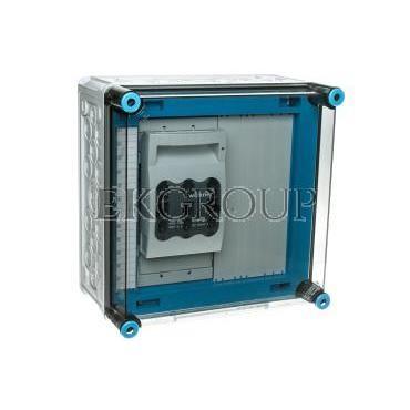 Skrzynka 300x300x170mm IP65 z rozłącznikami bezpiecznikowymi NH00 3P pokrywa przezroczysta Mi 86226 HPL00100-196837
