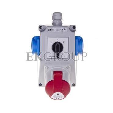 Zestaw instalacyjny z gniazdem 32A 3P N PE 2x2P PE ZI05\R462-199994