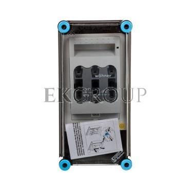 Skrzynka 150x300x170mm IP65 z rozłącznikami bezpiecznikowymi 1 x NH00 3P pokrywa przezroczysta Mi 85150 HPL00089-196844