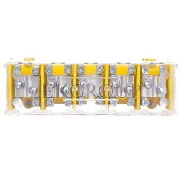 Odgałęźnik instalacyjny 5P (zacisk: 5x2x25mm2 - 5x4x10mm2) LZ5x25/10 wyk.22P 84095004-197081