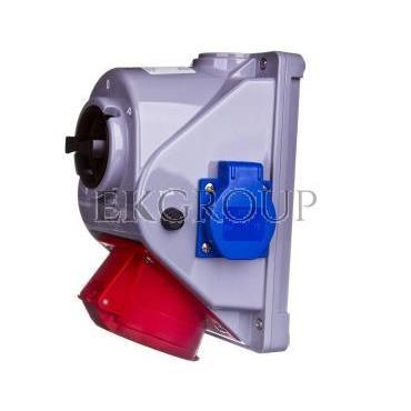 Gniazdo stałe z wyłącznikiem L-0-P 32A 5P 400V   2x 2P Z 230V IP44 COMBO-POL 960625421W-199989