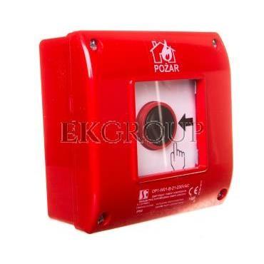 Przycisk ppoż. natynkowy 2Z 1R czerwony OP1-W01-B-21-230VAC-199642