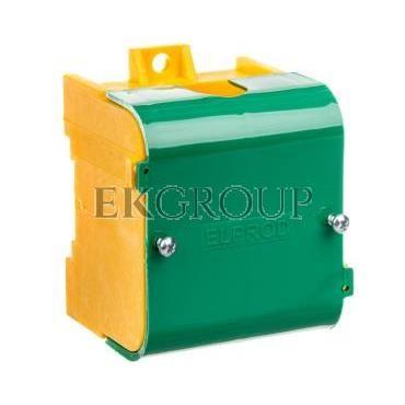 Odgałęźnik instalacyjny 1-segmentowy (zacisk: 1x95mm2 - 4x35mm2)/ z pokrywą żółto-zielony LZ 1*95/35P 84063009-197090