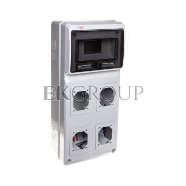 Rozdzielnica niewyposażona 506x230x150mm 4-otwory 8-modułów M-BOX IP65 1518083-197433