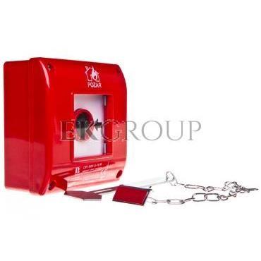 Przycisk przeciwpożarowy natynkowy 1Z czerwony z młotkiem OP1-W01-A\10-M-199641