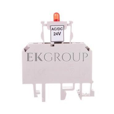 Złączka bezpiecznikowa 2,5mm2 z sygnalizacją LED 24V DC ZUB1-2.5D 13202992-195669