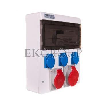 Zestaw zasilający 16A/32A/400V 5P   3x16A/250V 13-mod IP44 6634-000-200004