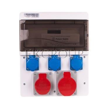 Zestaw zasilający 16A/32A/400V 5P   3x16A/250V 13-mod IP44 6634-000-200005