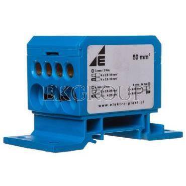 Blok rozdzielczy 2x4-50mm2   3x2,5-25mm2   4x2,5-16mm2 niebieski DB1-N 48.11-195970
