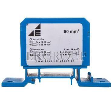 Blok rozdzielczy 2x4-50mm2   3x2,5-25mm2   4x2,5-16mm2 niebieski DB1-N 48.11-195971