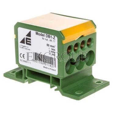 Blok rozdzielczy 2x4-50mm2   3x2,5-25mm2   4x2,5-16mm2 żółto-zielony DB1-Z 48.17-195973