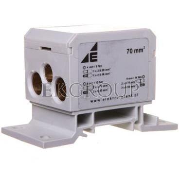 Blok rozdzielczy 2x4-70mm2   2x4-50mm2   1x4-25mm2 szary DB6-S 48.41-195986