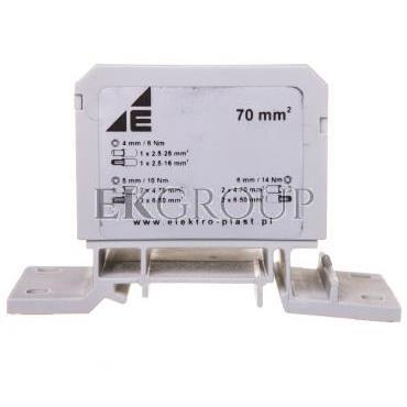Blok rozdzielczy 2x4-70mm2   2x4-50mm2   1x4-25mm2 szary DB6-S 48.41-195987
