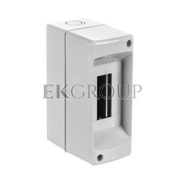 Rozdzielnica modułowa 1x2 natynkowa bez drzwi seria 610 IP40 50x130x85 szara EC61002-198807