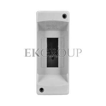 Rozdzielnica modułowa 1x2 natynkowa bez drzwi seria 610 IP40 50x130x85 szara EC61002-198808