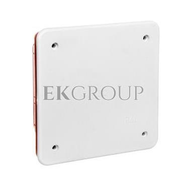 Puszka podtynkowa z pokrywą seria 350 92x92x45 czerwony-biały EC350C1-198841