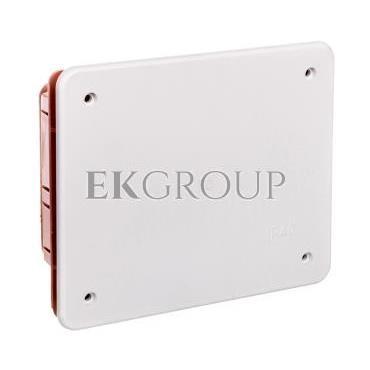 Puszka podtynkowa z pokrywą seria 350 120x100x50 czerwony-biały EC350C2-198843