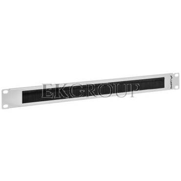 Panel szczotkowy do szafy 19'' 1U szary LANBERG AK-1101-S-191120