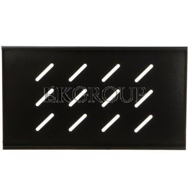 Półka do szaf 19'' 450/600mm czarna LANBERG (1U/500x280mm udźwig do 20kg, montaż 4 punktowy) AK-1001-B-191124