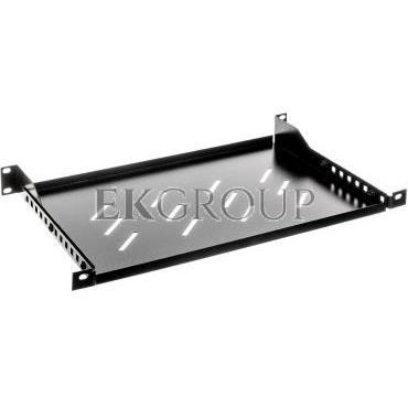Półka do szaf 19'' 600mm czarna LANBERG (1U/483x300mm udźwig do 25kg, montaż 4 punktowy) AK-1004-B-191128