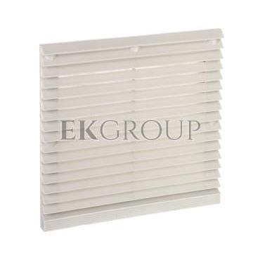 Kratka plastikowa z filtrem dla wentylatorów 172x150mm RAL7035 ZL-804 RAL7035-199590