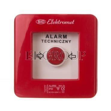 Wyłącznik alarmowy 2Z 12A /ALARM TECHNICZNY/ IP55 WA-2s 921403-199665