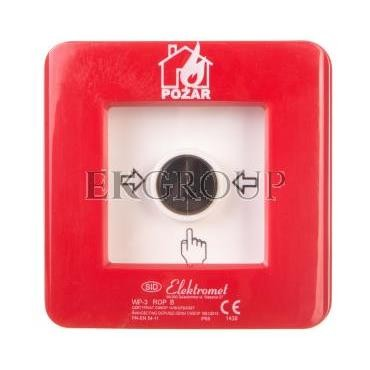 Ręczny ostrzegacz pożarowy 2R 12A IP65 WP-3 ROP B 921410-199697