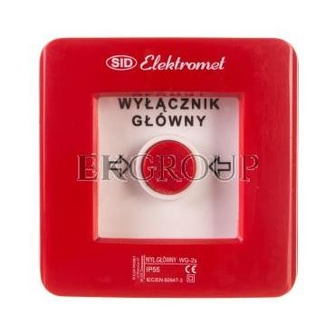 Wyłącznik alarmowy 2Z 12A /WYŁĄCZNIK GŁÓWNY/ IP55 WG-2s 921441-199673