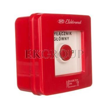 Wyłącznik alarmowy 4Z 12A /WYŁĄCZNIK GŁÓWNY/ IP55 WG-5s 921429-199682