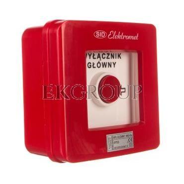 Wyłącznik alarmowy 4R 12A /WYŁĄCZNIK GŁÓWNY/ IP55 WG-6s 921430-199688