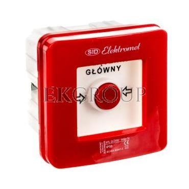 Wyłącznik alarmowy 1Z 1R 12A /WYŁĄCZNIK GŁÓWNY/ IP55 WGp-1s 921590-199698