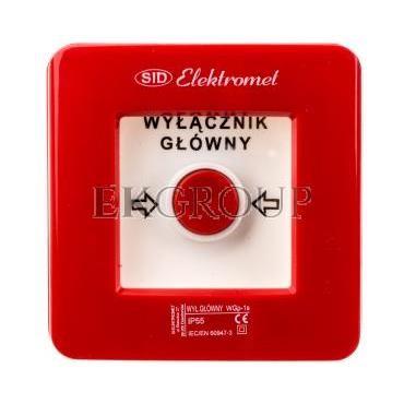 Wyłącznik alarmowy 1Z 1R 12A /WYŁĄCZNIK GŁÓWNY/ IP55 WGp-1s 921590-199699