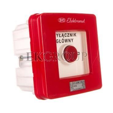Wyłącznik alarmowy 2R 12A /WYŁĄCZNIK GŁÓWNY/ IP55 WGp-3s 921592-199705
