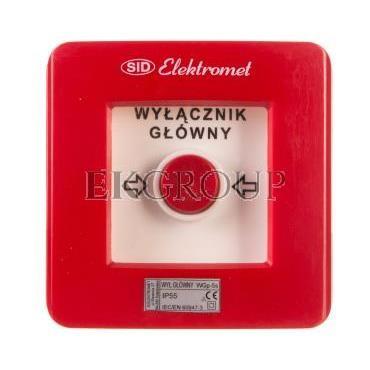Wyłącznik alarmowy 4Z 12A /WYŁĄCZNIK GŁÓWNY/ IP55 WGp-5s 921594-199710